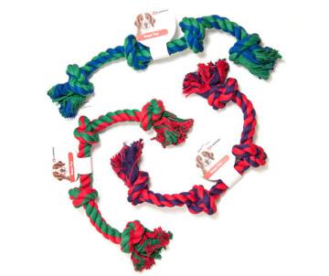 Flamingo COTTON BONE 4KNOTS игрушка для собак веревочная кость, 4 узла