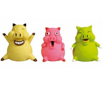 Flamingo PIG SMILEY игрушка для собак малых пород, с наполнителем, латекс