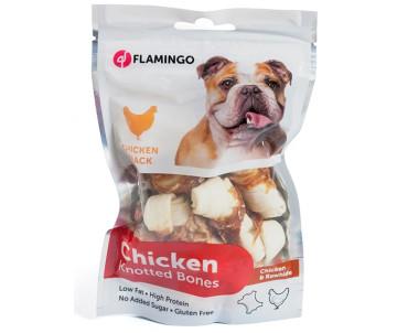 Flamingo Knotted Bones лакомство для собак кость с узлами, курица