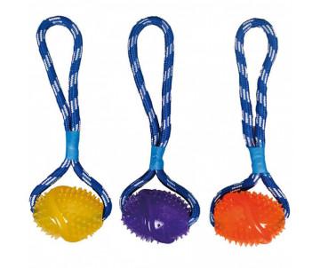Flamingo Football Cotton Rope мяч на веревке с петлей для руки