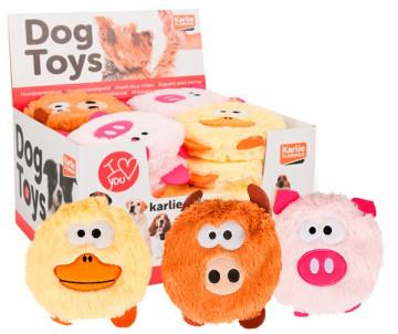 Flamingo Head Plush мягкая игрушка для собак, плюш