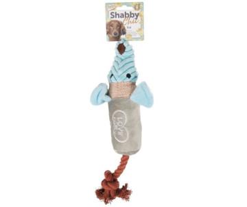 Flamingo Shabby Chic Rat КРЫСА игрушка для собак, c канатом и пищалкой