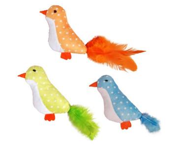 Flamingo Bird Feather с перьями игрушка с кошачьей мятой для котов