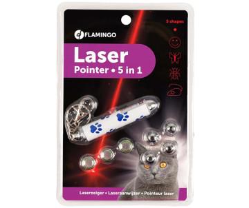 Flamingo Laser Pointer 5-in-1 ЛАЗЕРНАЯ УКАЗКА 5-в-1 игрушка для котов