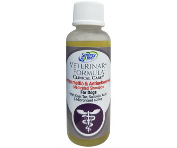 Veterinary Formula Antiparasitic & Antiseborrheic Shampoo АНТИПАРАЗИТАРНЫЙ и АНТИСЕБОРЕЙНЫЙ шампунь с дегтем, серой, салициловой кислотой для собак