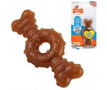 Nylabone Puppy Chew Ring Bone жевательная игрушка для щенков, вкус курицы