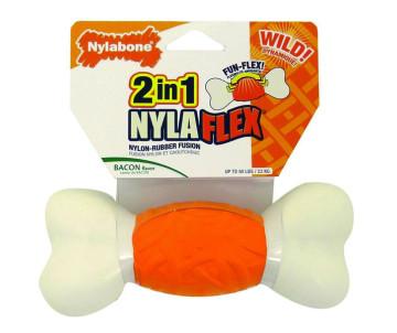 Nylabone NylaFlex Bone игрушка кость для собак с умеренным стилем грызения, вкус бекона