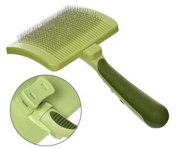 Safari Self-Cleaning Slicker Brush пуходерка сликер с самоочисткой для собак и котов