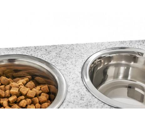 Harley And Cho Dinner Stone Pepper Stone + White миски на подставке для средних и больших собак