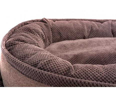 Harley And Cho Donut Soft Touch Brown Овальный лежак для средних и больших собак