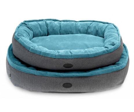 Harley And Cho Donut Soft Touch Ocean Овальный лежак для средних и больших собак
