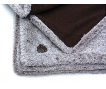 Harley and Cho Fur Blanket Brown Плед меховый