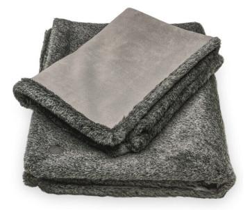 Harley and Cho Fur Blanket Gray Плед меховый