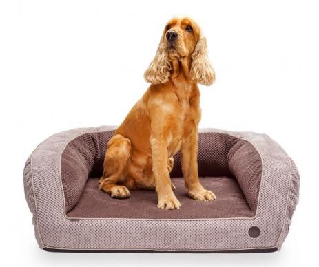 Harley And Cho Sleeper Soft Touch Brown Ортопедический диван для собак