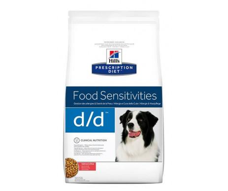 Hills PD Canine D/D лечебный корм для собак с лососем и рисом, пищевая чувствительность, заболевания кожи