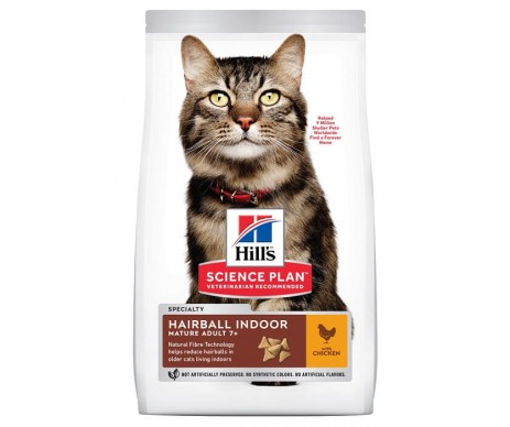 Hills Cat Science Plan Mature Adult Hairball&Indoor