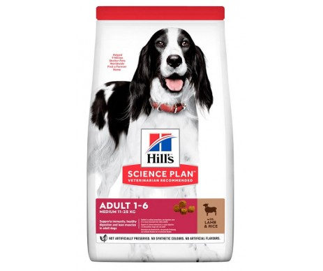 Hills Dog Science Plan Adult Medium Lamb&Rice