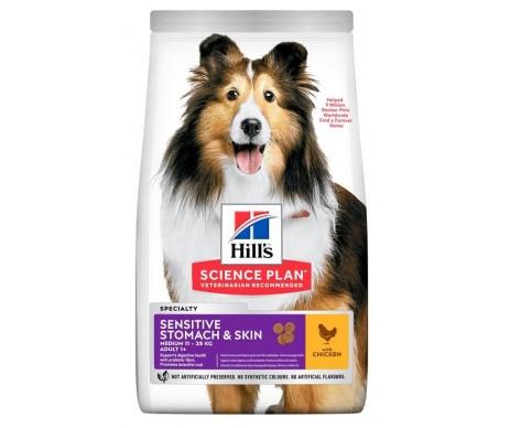 Hills Dog Science Plan Adult Sensitive Stomach&Skin Medium