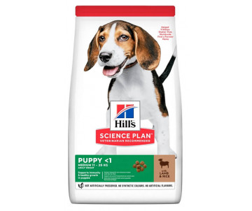 Hills Dog Science Plan Puppy Medium Lamb Rice