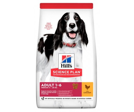 Hills Dog Science Plan Adult Medium Chicken