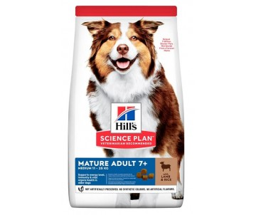 Hills Dog Adult Science Plan Mature Medium Lamb Rice