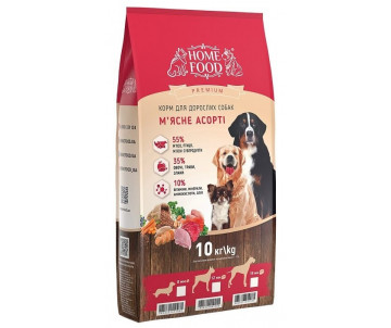 Home Food Dog Adult Large Breed Meat Assorted