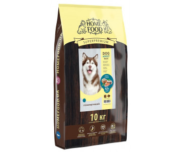 Home Food Dog Adult Hypoallergenic Large Breed Trout Rice Vegetables