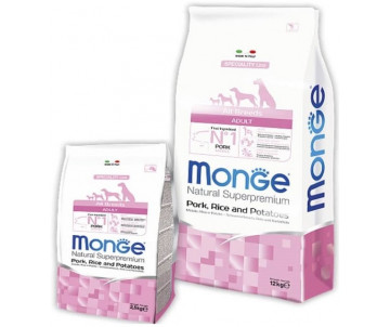 Monge Dog Adult All Breeds Pork Rice