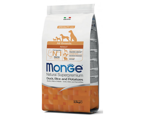 Monge Dog Adult All Breeds Duck Rice