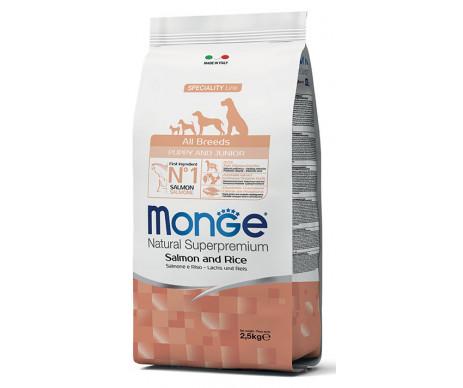 Monge Dog Puppy Junior All Breeds Salmon Rice