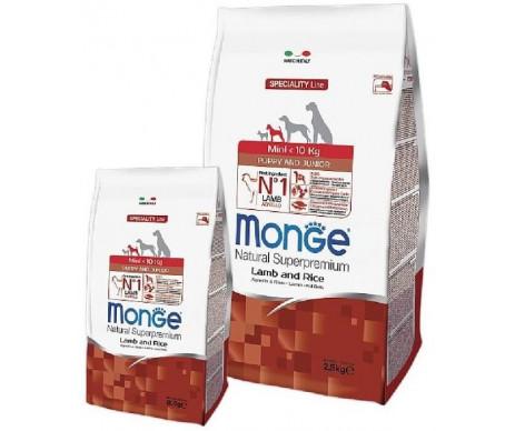 Monge Dog Puppy Junior Mini Lamb Rice