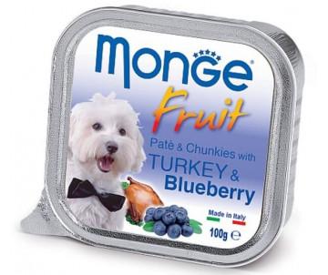 Monge Dog Fruit Turkey Blueberry Wet