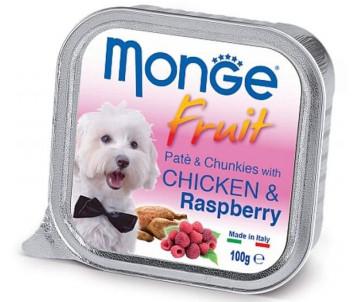 Monge Dog Fruit Chicken Raspberry Wet