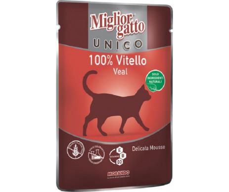 Morando MigliorGatto Cat Adult Unico only Veal Pate