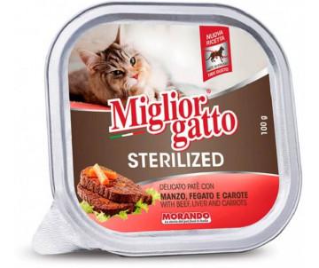 Morando MigliorGatto Cat Adult Sterilized Beef Pate