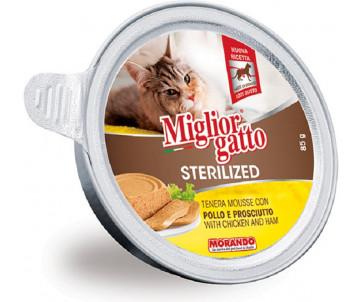 Morando MigliorGatto Cat Adult Sterilized chicken mousse