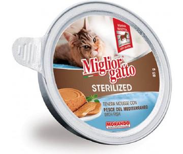 Morando MigliorGatto Cat Adult Sterilized fish mousse
