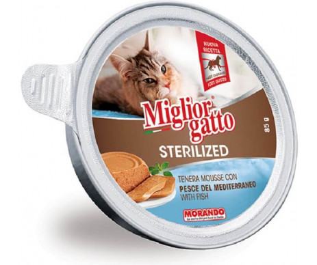 Morando MigliorGatto Cat Adult Sterilized fish mousse
