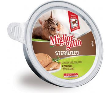 Morando MigliorGatto Cat Adult Sterilized rabbit mousse