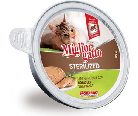 Morando MigliorGatto Cat Adult Sterilized rabbit mousse