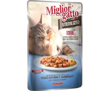 Morando MigliorGatto Cat Adult Sterilized Fish Gravy