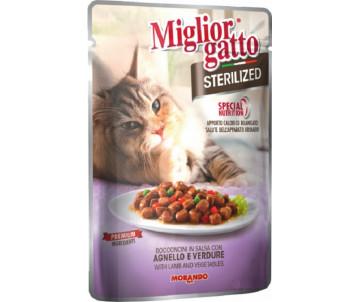 Morando MigliorGatto Cat Adult Sterilized Cat lamb Gravy