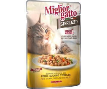Morando MigliorGatto Cat Adult Sterilized turkey chiken Gravy