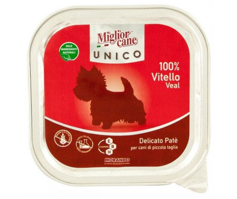 Morando MigliorCane Dog Adult Unico only Veal Wet