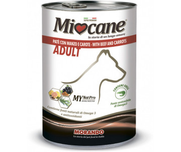 Morando MioCane Dog Adult Beef carrots Wet