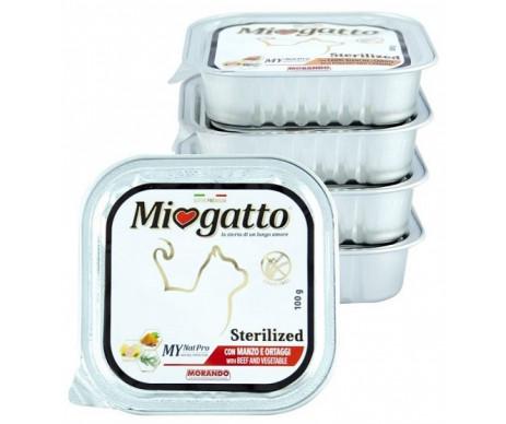 Morando MioGatto Cat Adult Sterilised Beef vegetables Pate
