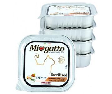 Morando MioGatto Cat Adult Sterilised Poultry carrots Pate