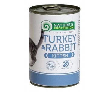 Natures Protection Cat Kitten Turkey&Rabbit