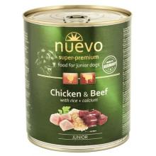 Nuevo Dog Junior Chicken Beef Rice Wet