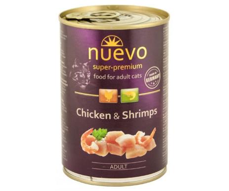 NUEVO Cat Adult Chicken Shrimp Wet